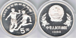 CHINA 5 YUANG 1990 PLATA SILVER - China