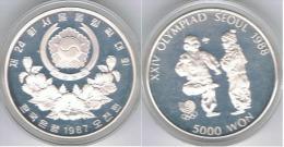 COREA DEL SUR 5000 WON 1987 PLATA SILVER - Coreal Del Sur