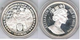 ISLA DE MAN 15 EUROS LA BOHEME 1996 PLATA SILVER - Monedas
