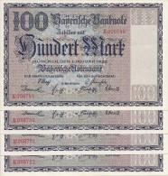 Deutschland, Germany, Bayerische Notenbank - ( Ro.: BAY 4 ) 1 X 100 Mark, UNC, 1922 ! - [ 3] 1918-1933 : République De Weimar