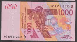 MALI ( West African States) 1000 Francs 2003  - P415Da - UNC - Mali