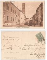 MANTOVA - VIA CAVOUR E TORRE DELLA GABBIA - TRAM - EDIZ. PELLONI 1916 - Mantova