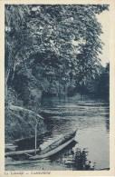 Cameroon Cameroun La Lokundjé River Scene Close To Kribi With Canoe - Kameroen