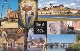 CPM - Gien 45 Multi-vues  Château , Musée De La Chasse , Pont Sur La Loire  , Eglise  Tapisserie  Etc... - Châteaux
