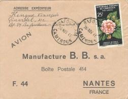 Cameroun Cameroon 1966 Bafoussam Hibiscus Flowers Cover - Kameroen (1960-...)