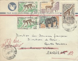 Cameroun Cameroon 1963 Mokolo Giraffe Elephant Kob Antilope Monkey Ape Cover - Kameroen (1960-...)