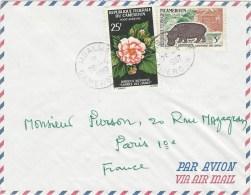 Cameroun Cameroon 1967 Mbalmayo Hibiscus Flower Hippo Cover - Kameroen (1960-...)