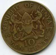 Kenya 10 Cents 1977 KM 11 - Kenya