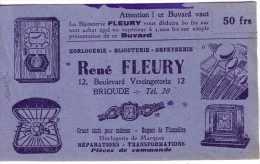BUVARD - HORLOGERIE - BIJOUTERIE - ORFEVRERIE - R. FLEURY 12 BOULEVARD VERCINGETORIX - BRIOUDE ... - Buvards, Protège-cahiers Illustrés