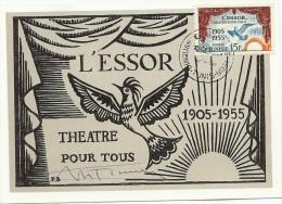 LPP7/B - TUNISIE L'ESSOR CP CONCORDANTE DEDICACEE 16/4/1955 - Tunisia (1888-1955)