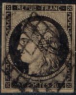 France - 1849 - Y&T N° 3, Oblitéré - 1849-1850 Cérès