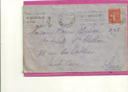 FLAMME KRAG DATEUR 4 LIGNES BEBES DE PARIS XX - Marcophilie (Lettres)