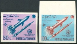 1962 Afghanistan Spazio Space Espace Metereologia Meteorology Météreologie Set Imperf.MNH** B299 - Afghanistan