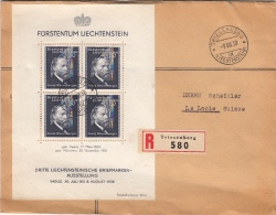 Lettre Triesenberg Bloc De 4 Pour La Suisse 1938