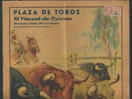 Top  Affiche sign�e par Ruano Llopis. Plaza de Toros. St. Vincent-de-Tyrosse. Festival Taurin. Corrida.  6 scans!
