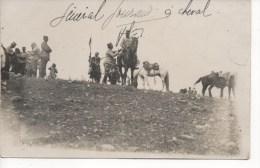 CARTE PHOTO - GENERAL GOURAUD à CHEVAL,Lieu à Définir ( Afrique Ou Syrie Ou Liban ) RARE,Voir SCAN,SUPERBE - Characters