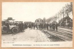 ROUSBRUGGE-HARINGHE -- La Station Du Train Sur Route D'YPRES - écrite 1915 - Otros