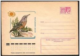 URSS - Intero, Stationery, Entier. Tordo, Thrush, Muguet - Pájaros Cantores (Passeri)