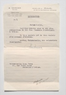 Fontaine-l´Evêque / Ham-sur-Heure : Lot De 5 OBLIGATIONS + Lettre Recommandée Notaire, Bruxelles 1945 / Tramway Catane - Chemin De Fer & Tramway