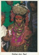 Nepal - Kumari (Living Goddess).  H-441 - Nepal