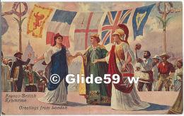 Franco-British Exhibition - Greetings Fron London (WW1) (Valentine & Sons Ltd) - Oorlog 1914-18