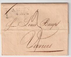 Belgien, 1823 ,  Aachen Nach Verviers ,  #1675 - 1815-1830 (Holländische Periode)