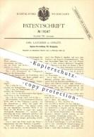 Original Patent - Emil Lauckner In Görlitz , 1882, Speise-Vorrichtung Für Krempeln , Spinnen , Spinnerei , Wolle , Faser - Historische Dokumente