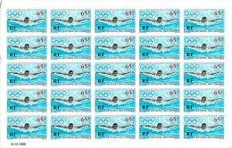 ARCHIPEL DES COMORES PLANCHES  DE 25 TIMBRES NON DENTELES POSTE AERIENNE N°25 JEUX OLYMPIQUES MEXICO 1968 - Comores (1950-1975)