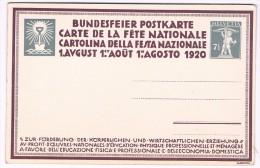 Carte De La Fête Nationale / 1er Août 1920 - Le Labour - Interi Postali