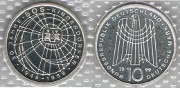 ALEMANIA 10 DEUTSCHE MARK F 1999 SOS KINDER PLATA SILVER - [ 7] 1949-… : FRG - Fed. Rep. Germany