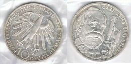 ALEMANIA 10 DEUTSCHE MARK F ZEISS 1988 PLATA SILVER - [ 7] 1949-… : FRG - Fed. Rep. Germany