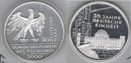 ALEMANIA 10 DEUTSCHE MARK J 2000 PLATA SILVER.png EINHEIT - [ 7] 1949-… : FRG - Fed. Rep. Germany