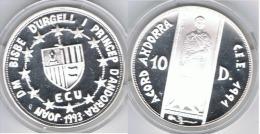ANDORRA 10 DINEROS CEE 1993 PLATA SILVER - Andorra
