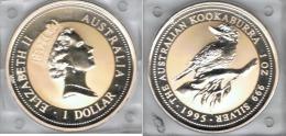 AUSTRALIA OUNCE KOOKABURRA  DOLLAR  1995 PLATA SILVER - Colecciones