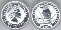 AUSTRALIA OUNCE KOOKABURRA  DOLLAR  2009 PLATA SILVER - Colecciones