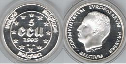 BELGICA 5 ECU 1993 PLATA SILVER - Collections