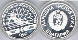 BULGARIA 25 LEBA OLIMPIADA 1988 PLATA SILVER - Bulgaria