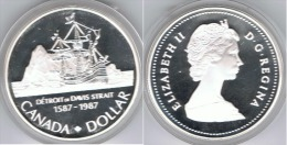 CANADA DOLLAR 1987 DAVIS STRAIT PLATA SILVER - Canada