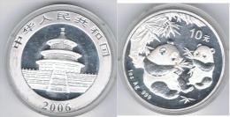 CHINA 10 YUANG  OUNCE  PANDA 2006 PLATA SILVER - China