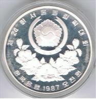 COREA DEL SUR 5000 WON LUCHA 1987 OLYMPIAD SEOUL PLATA SILVER. B - Coreal Del Sur