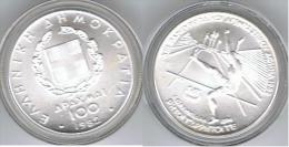 GRECIA 100 DRACMA 1982 SALTO OLYMPIADE PLATA SILVER - Grecia