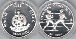 VANUATU 10 VATU 1988 OLYMPIC GAMES SEOUL PLATA SILVER - Vanuatu