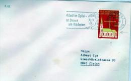2690 Carta Liechtenstein 1967  Vaduz Arbeit Im  Spitalist Dienst Am Nachsten - Sin Clasificación