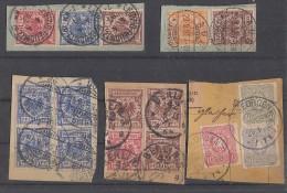 DR Lot 5 Paketkartenausschnitte Krone & Adler Einheiten Ansehen !!!!!!!!!!!! - Briefmarken