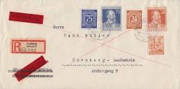 Gemeina. R-Eilbote-Brief Mif Minr.925,934,951,963,964 Amberg 2.6.47 - Gemeinschaftsausgaben