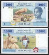 GABON  (C.A.S.) : 1000 Franchi - 407A - FDS - Gabon