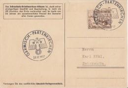 DR Werbekarte Schaubek EF Minr.651 SST Garmisch-Partenkirchen 22.12.37 - Briefe U. Dokumente