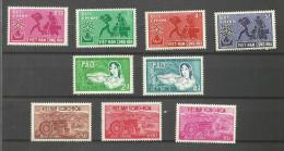 Viet-Nam Du Sud N°134 à 137, 151 à 155 Neufs** Cote 6.30 Euros - Viêt-Nam