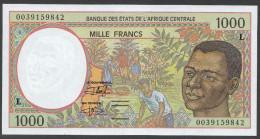 GABON (Central African States) : 1000 Francs  - 1993-2000 - P402L -  UNC - Equatoriaal-Guinea
