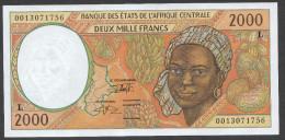 GABON (Central African States) : 2000 Francs  - 1993-2000 - P403L -  UNC - Guinée Equatoriale